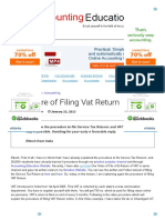 Procedure of Filing Vat Return _ Accounting Education