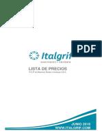 precios de italgrif