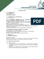 Programa 2017 (Literatura Española)