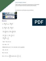 Ecuaciones Racionales de Primer Grado