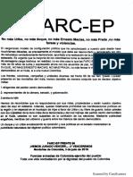 Presunto panfleto FARC-EP
