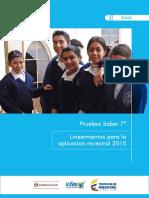 Pruebas Saber 7 Lineamientos Para La Aplicacion Muestral y Censal 2015 v2