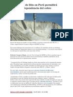 Impacto en La Economia Del Litio en El Peru