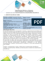 Syllabus Del Curso Caracterización de Contaminantes Atmosféricos