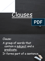 What are Clauses