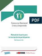 Manual de usuario para inscripción de participantes 2019