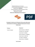 Proyecto investigación Metodologia