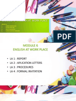 Modul 6 English at Work Place