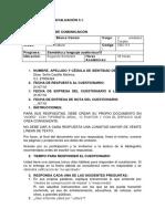 Cuestionario de Evaluación 3.1. Elisa Castillo.