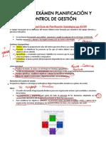 Resumen Examen Planificación y Control de Gestión 2019