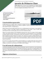 Submarino Japonés de Primera Clase