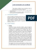 Conserva de Mandarina en Almíbar