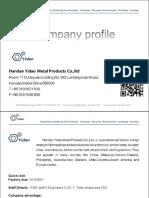 1 2019Anna16630038170 , yidaometal Company Profile, threaded bar, accessory