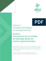 Formulación de un modelo de liderazgo desde las teorías organizacionales