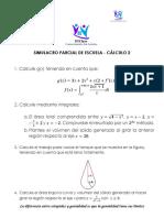 Cálculo 2 - Parcial Escuela (2018-1)
