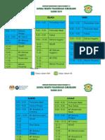 Jadual Waktu Pra c 2019