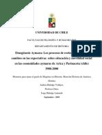 Etnogenesis Aymaras Los Pocesos de Reetnificacion y Los Cambios en Las Expectativas Sobre Educacion y Movilidad Social