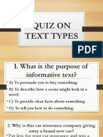 Quiz on Text Types