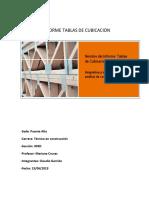 Informe Presupuesto cubicaciones