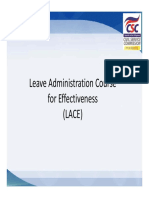 LACE Recording of Work Hours - Computation of LC - COC