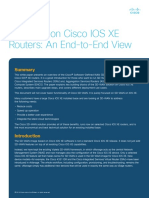 SD wan on Cisco  iOS XE routers an  end to end view