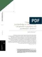 Nosografia y psicopatologia en Otto Kenberg