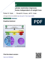 Carb Restriction Metabolic Syndrome
