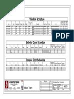 Window Door Schedules