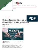 Comandos Esenciales de La Consola de Windows (CMD) Que Debes Conocer _ Tecnología - ComputerHoy.com