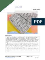 Beach Peas Cowl crochet