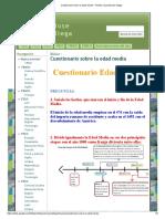 Cuestionario Sobre La Edad Media - Porfolio Jose Manuel Ollega