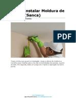 Apostila - Instalação Moldura de Gesso (Sanca)
