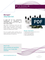 Brochure Strep Latex Test M47CE