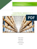 Felipe Gallardo Tarea Control 3 Logística y Almacenamiento