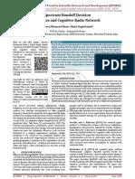 Spectrum Handoff Decision Schemes and Cognitive Radio Network