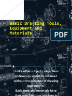Basic Drafting Tools, Equipment and Materials