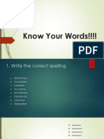 Know Your Word Quiz