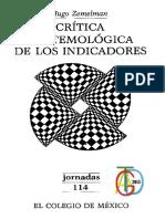 Zemelman, Hugo - Critica Epistemologica de Los Indicadores