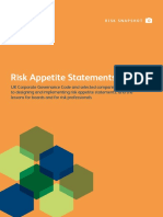 Risk Appetite Statements