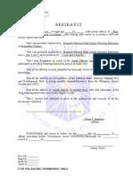Affidavit 2017