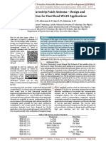 Bow Tie Microstrip Patch Antenna - Design and Implementation for Dual Band WLAN Applications