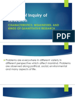Nature of Inquiry of Research