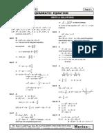 Solutions to problems of quadratic equation.