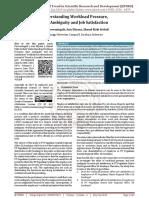 Understanding Workload Pressure, Role Ambiguity and Job Satisfaction