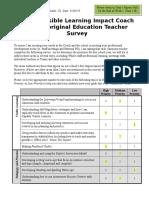 identifying professional learning survey