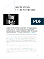 'He' 'She' Versus 'They'