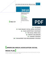 Angus Association Social Media Plan