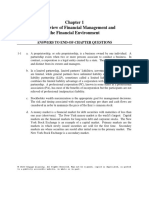 Ch01 Solutions Manual an Overview of FM and the Financial Management and the Financial