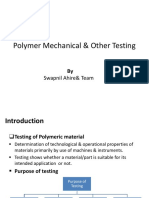 Polymer Mechanical & Other Testing