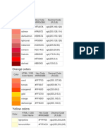 HTML Color Code